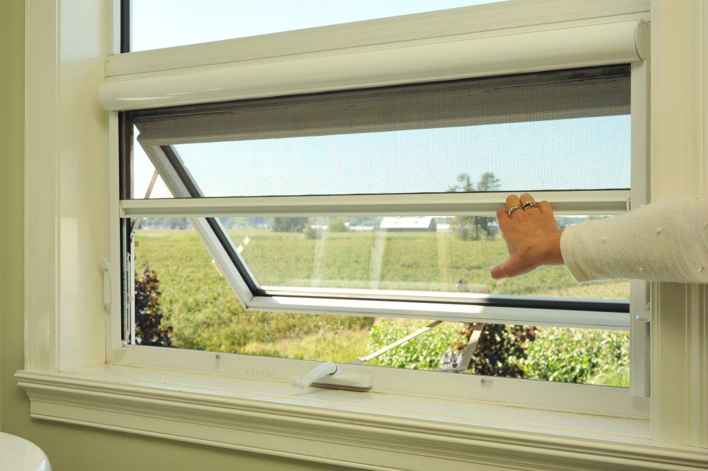 Double Hung Windows Screens : Serene window screens fully retractable for
