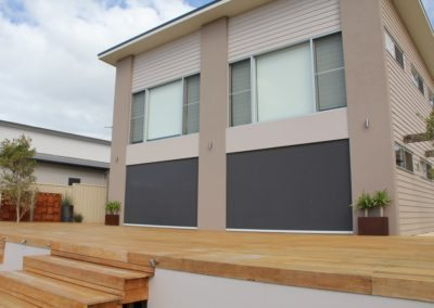 Closed Outdoor Motorised Blinds in Port Vincent
